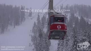 1-12-17 South Lake Tahoe, CA - Heavenly Ski Resort Heavy Snow
