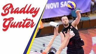 Expert Left-spikes by BRADLEY GUNTER (Canadian Player) | VNL 2018