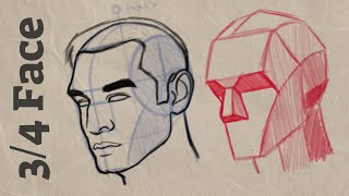 How to Draw 3/4 View Face | Cintiq 16