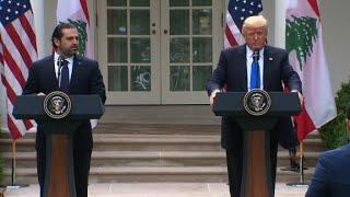 Trump, Lebanese PM speak at White House