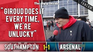 Giroud does it every time, we're unlucky | Southampton 1-1 Arsenal | The Ugly Inside