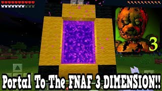 Minecraft Pe - Portal To The FNAF 3 DIMENSION - Mcpe Portal To The five nights at freddy's 3!!!