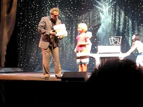 Jillene as magician s assistant