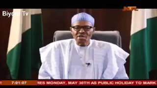 President Muhammadu Buhari speech (democracy day)