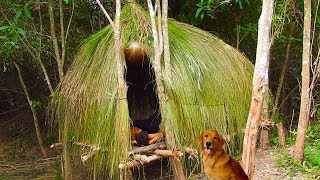 Primitive Technology: Build Grass Hut