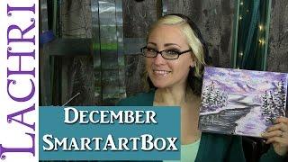 December Smart Art Box - Acrylic winter landscape Painting w/ Lachri