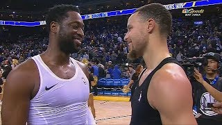 Stephen Curry Gives Dwyane Wade Respect Along With Entire Warriors After Last Game Against Him!