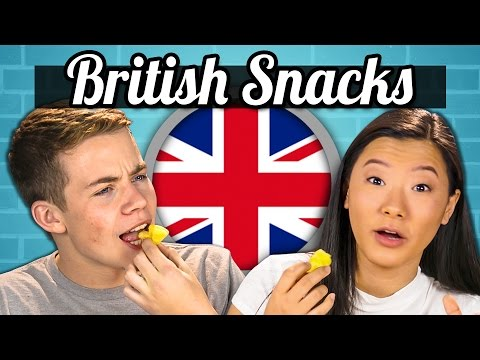 TEENS EAT BRITISH SNACKS Jaffa Cakes Sherbet Fountain Monster Munch Teens Vs. Food
