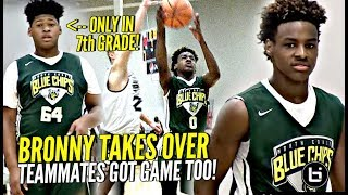 LeBron James Jr Takes OVER In The Clutch! Blue Chips WHOLE Squad Is Nice! Midwest Mania Highlights!