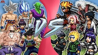 GOKU vs NARUTO TOTAL WAR! (Naruto vs Dragon Ball Super Animation) | CARTOON FIGHT ANIMATION REWIND