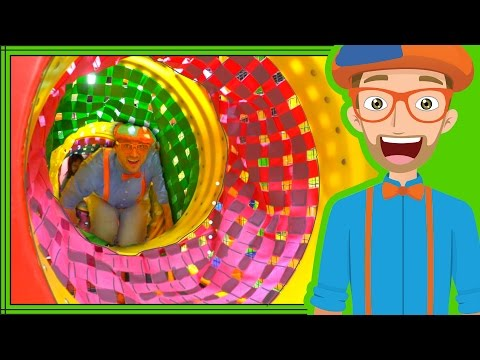 Blippi playing at a playground Learn Colors and more