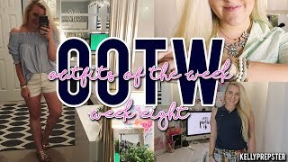 PREPPY OUTFITS OF THE WEEK (July 2017, OOTW #8) 5 OUTFIT IDEAS || Kellyprepster