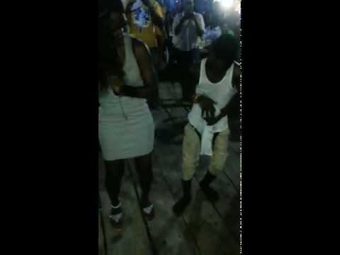 crazy dancer at lagos beach party