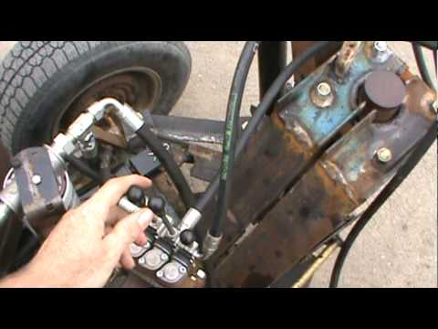Dany homemade excavator Test swing and transmission .MPG