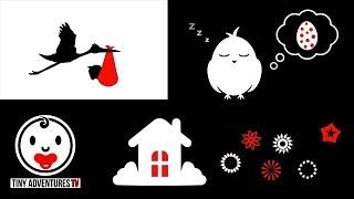 Baby Sensory - Sleepy Time (Black White Red) - Rock a Bye Baby (Put baby to sleep)