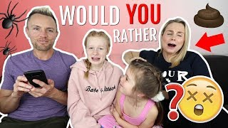 WOULD YOU RATHER? 😱 PARENT vs KiDS EDiTiON!