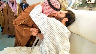 سمو الأمير متعب بن عبدالله يزور مصابي الحد الجنوبي من قوات الحرس الوطني