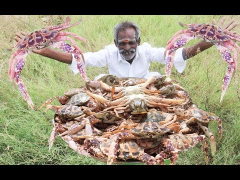 Yummy Pepper BIG CRAB Prepared by my DADDY Arumugam / Village food factory