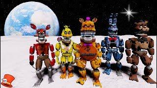 NIGHTMARE ANIMATRONICS GO TO SPACE! (GTA 5 Mods For Kids FNAF RedHatter)