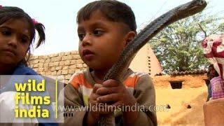 The snake children of India