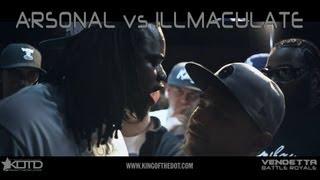 KOTD - Rap Battle - Arsonal vs Illmaculate | #Vendetta