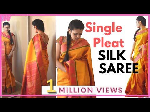 Xxx Mp4 How To Drape Silk Saree With Single Pleat 3gp Sex