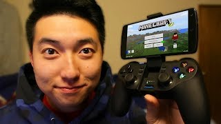 THE BEST Minecraft PE CONTROLLER! (GameSir T1s)