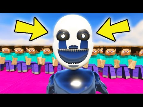 NIGHTMARE PUPPET vs ARMY OF MINECRAFT STEVE! (GTA 5 Mods For Kids FNAF Funny Moments)