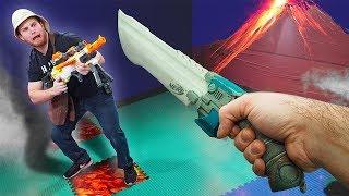 NERF Dungeons & Dragons | Volcano Showdown Challenge!