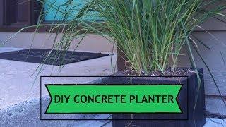Concrete Modern Cube Planters