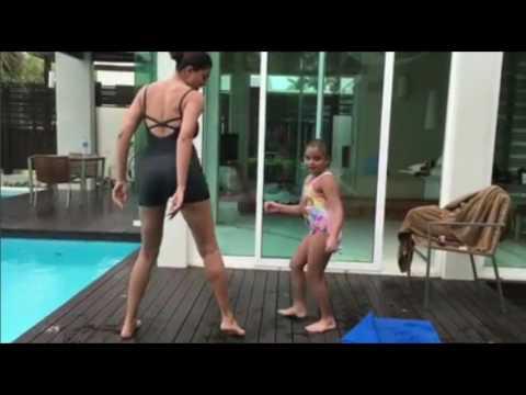 Sushmita Sen Ed Sheeran Shape of You Hot Dance with Daughter Full Video