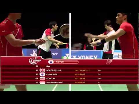 World Cup Badminton MD - Cai Y./Fu H. vs Ko S.H./Yoo Y.S #1