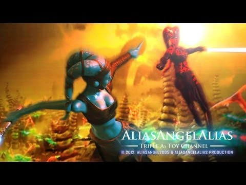 Aayla Secura Vintage Collection & Clone Wars Figure Comparison Review