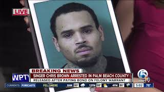 Singer Chris Brown arrested in Palm Beach County after concert