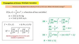 Uncertainty and Propagation of Errors