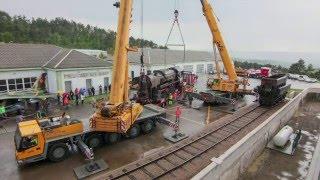 Selitev vojaške parne lokomotive 33-110 v Park vojaške zgodovine