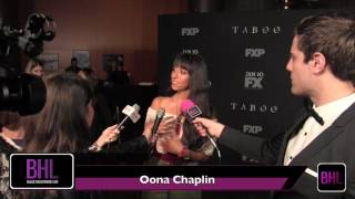 FX Taboo Premiere | Oona Chaplin Interview | Black Hollywood Live