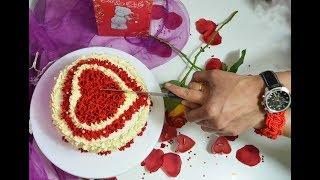 রেড ভেলভেট কেক (চুলায় তৈরী) ।। লাল মখমল কেক।। Red Velvet Cake On Stove ।। Valentine's Day Special