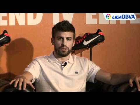 Gerard Pique at Nike Tiempo Legend IV Elite launch