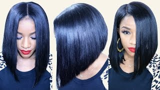 how to cut a flawless bob ft bestlacewigs hair extensions