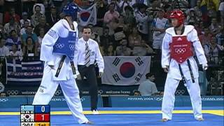 Olympic Games Athens 2004 Taekwondo Greece vs korea +80kg final K.O