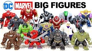 Venom Hulkbuster Thanos Armored Batman Avengers Marvel & DC Unofficial LEGO Big Figures Set 1