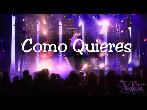 Violetta 2 Como Quieres Karaoke Instrumental Letra