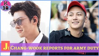Ji Chang-wook reports for army duty