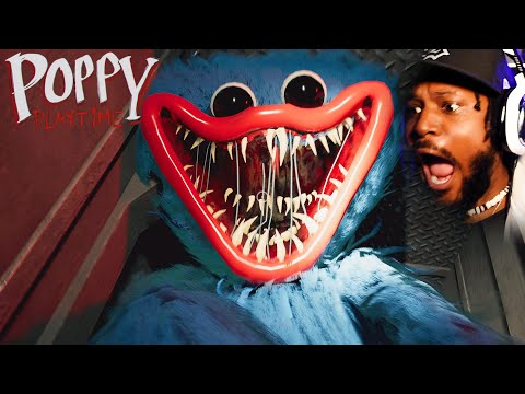 SCREAMING at a SCARY Toy Factory Poppy Playtime Chapter 1