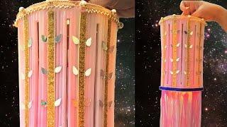 DIY Diwali - Christmas Decoration Crafts : How to Make DIY X-Mas Lantern from Drinking Straws