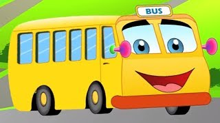The Wheels On The Bus | English Nursery Rhymes For Kids & Children