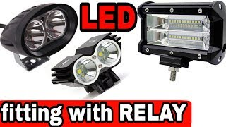 How to fit Relay in LED light