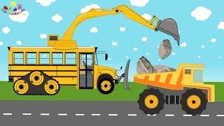 Truck and Excavator | Wheels On The Bus | Vehicles for kids - Koparka - Bajka