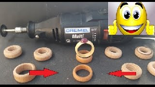 how to make many wooden ring ( very easy ) new